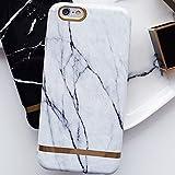 iPhone7 6s 6 ケース カバー マーブル 大理石 天然石 ゴールド ボーダー 高級 おしゃれ かわいい 人気 ペア【 保護フィルム付き 】【 オンライン版iPhoneカメラ講座付】 .ca1360-7-awt