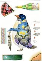ねこの引出し 十日町たけひろのペンギンのポストカード ★「ごみ箱紳士の話」