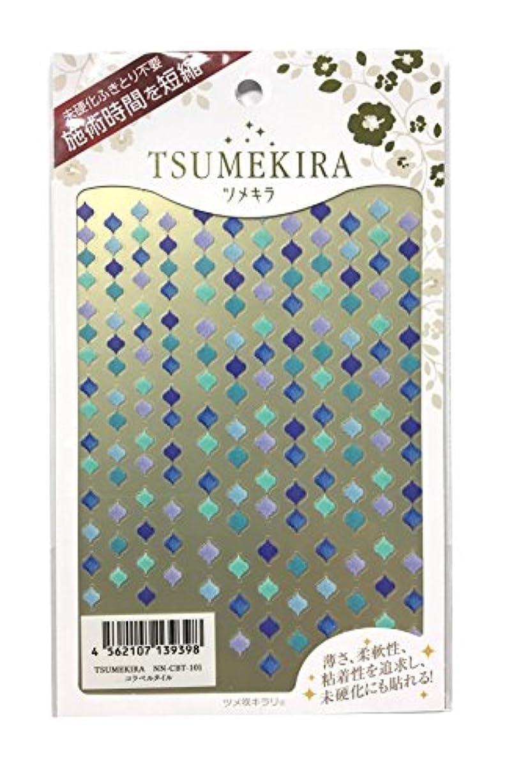 不健全愚か疑いツメキラ(TSUMEKIRA) ネイル用シール コラベルタイル NN-CBT-101