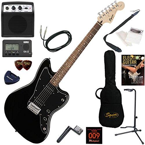 Squier エレキギター 初心者 入門 ハムバッッキングPUを搭載したジャズマスター。 ミニアンプが入ったお手軽13点セット Affinity Jazzmaster HH/BLK(ブラック)