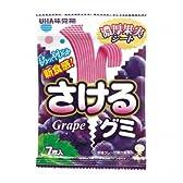 UHA味覚糖 さけるグミ グレープ 7枚 80コ入り