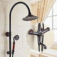 LJ ヨーロッパスタイルのブラックレトロフィット細かい銅のシャワーシステム、8