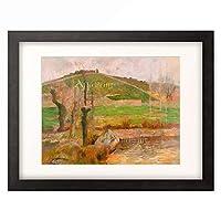 ポール・ゴーギャン Eugene Henri Paul Gauguin 「Paysage pres de Pont-Aven (Landschaft bei Pont-Aven), 1888.」 額装アート作品