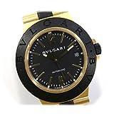 [ディアゴノ]Diagono BVLGARI ブルガリ ディアゴノ アルミニウム メンズ腕時計 YG金無垢/ラバーベルト 自動巻き AL38G [中古]