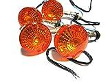 バイク 汎用 デカ GS メッキ ウインカー オレンジ 4 個 セット