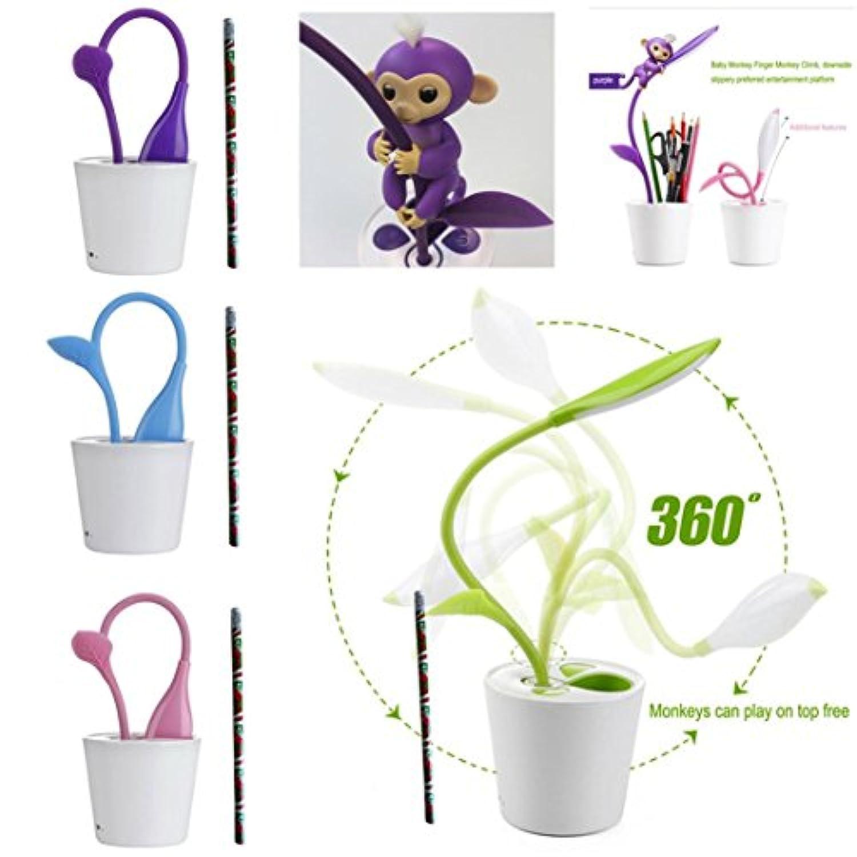 Interactive Baby Monkey LED夜間ライトペンPlayset登山、スタンド/ ENTERTAINTプラットフォーム/ジャングル/ジム/ホルダーfor Little Baby Monkey グリーン