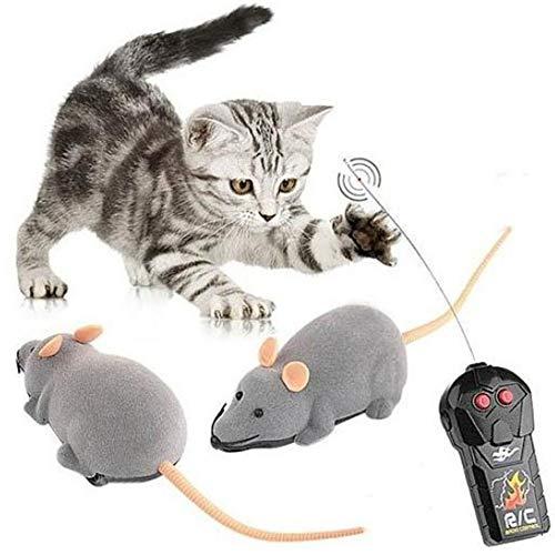 Onior 猫おもちゃ 電動 ネズミ ペット用品 逃げる ネ...