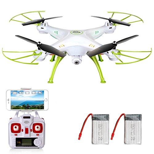 SYMA X5HW Wifi FPV (生中継 動画 リアルタイム) 2.0MP HD カメラ RC ドローン ラジコン クアッドコプター マルチコプター 付 360°外転 ヘッドレスモード ホバリング機能 [並行輸入品]