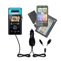 GomadicマルチポートMini DCオート/車充電器と互換性Sony Bloggie mhs-pm5KモバイルHDスナップ–1つ充電器with 2つのデバイスの接続を使用してアップグレード可能TipExchange