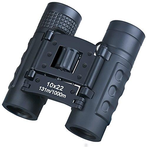 望遠鏡 双眼鏡 10倍 10×22 7° 22口径 ミニ双眼鏡 高倍率 防水 軽量 拡大 コンサート スポーツ観戦 登山 バードウォッチング アウトドア 旅行に最適 (ブラック)