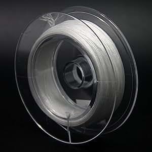 SAMS FISHING フライ バッキングライン ダクロン フライフィッシング フライフィッシング用 バッキングライン 色選択可 20-30lbs 55-109ヤード (White, 30lb 50m/55yds)