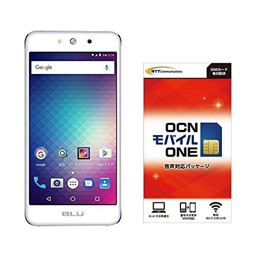 Amazon.co.jp 限定BLU(ブルー)GRAND M SIMフリースマートフォン シルバー 専用ケース付  OCN モバイル ONE 音声通話+LTEデータ通信SIMセット