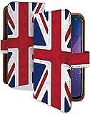 Xperia Ace SO-02L ケース 手帳型 国旗 イギリス レトロ かっこいい 世界の国旗 スマホケース エクスペリアエース 手帳 カバー XperiaAce so02l so02lケース so02lカバー 旗 ユニオンジャック イギリス国旗 [国旗 イギリス レトロ/t0761d]