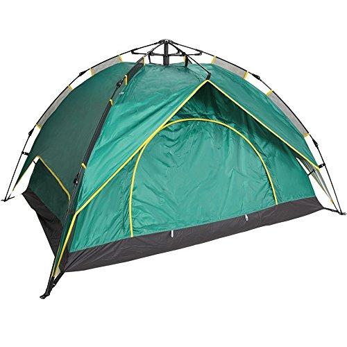 【 組み立て10秒 収納15秒 】EARTH LEAD ワンタッチ テント 超簡単 楽々 設営 2way 2サイズ サンシェード キャンプ アウトドア 登山 防災 軽量 防水 3人用 Aタイプ グリーン