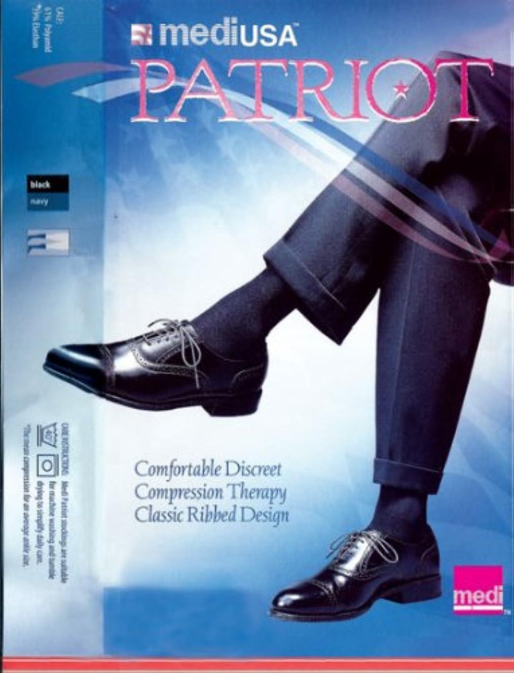 薬行う子供時代Patriot by Medi Ribbed Knee High 20-30mmHg Closed Toe, XL, Navy by Medi