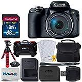 Canon PowerShot SX70 HSデジタルカメラ + 32GB SDHCメモリーカードプレミアム+ カメラケース + 12インチの柔軟な三脚 + メモリーカードケース + USBカードリーダー + スクリーンプロテクター+ クリーニングクロス - デラックスセット