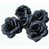 [Richair] 黒バラ パーティー イベント ディスプレイ お店の装飾 クール 個性的 ブラック50個