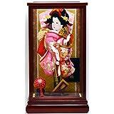 廣栄作 人形の廣榮 羽子板飾り 10号 ガラスケース入り 10華麗×逸品