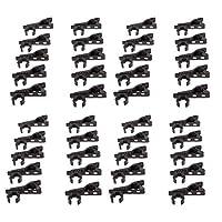 マイクロ リング型 ラペル ネクタイ ラベリア マイク メタル クリップ ラック 8mm+10mm ポータブル - 40個, 直径12mm