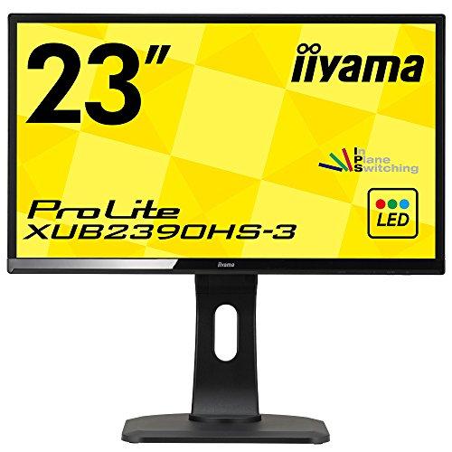 iiyamaディスプレイ モニター 23インチ XUB2390HS-B3/フルHD/昇降スタンド/スリムベゼル/HDMIx1/DVI-Dx1/D-subx1
