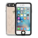Merit iPhone7 防水ケース IPhone7防水ケース アイフォン透明軽量ケース 防塵 耐衝撃カバー 傷つけ防止 指紋認識 (ブラック)