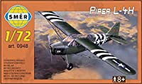 Piper l-4h Cub in USAAF Dデイ、陸軍(1 /72モデルキット、Smer 0948 )