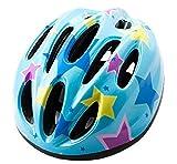 【On Dolce】 ヘルメット 子ども 用 キッズ 幼児 自転車 45~56cm 軽量 サイクリングヘルメット 調整可能 HEL002 (ブルー/星)