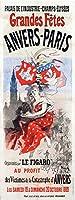 Grandes Fetes Anvers–パリビンテージポスター(アーティスト: Cheret )フランスC。1889 12 x 18 Art Print LANT-58426-12x18
