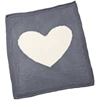 Lovoski 赤ちゃん ベビー ニット ブランケット おくるみ キルト 毛布 寝具 柔らかい 通気性 全4色