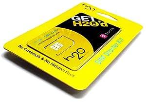 アメリカSIM h2o by KDDI MONTHLY$30 初月料金コミコミパック LTE通信2GB 通話・テキスト・データ・国際通話も全部コミコミ!