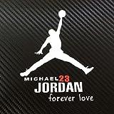 ジョーダン Michael Jordan マイケル・ジョーダン 車・バイク用 小サイズ ステッカー / デカール (ホワイト)