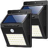 センサーライト 屋外 ソーラーライト 人感センサーライト 40LED IP65防水 HETP 防犯ライト 自動点灯 太陽光発電 高輝度ライト 省エネ 明暗センサーライト 玄関/廊下/階段/駐車場など対応 取り付け簡単 2個セット