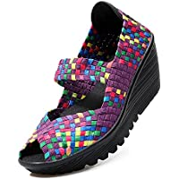 BY0NE Hand-Knitted Shake Women's Shoes Hollow Low Cut Thick Increase Leisure Shoes Thin Shoes