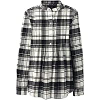 Lands' End Women's Plus Size Flannel Pleated Tunic