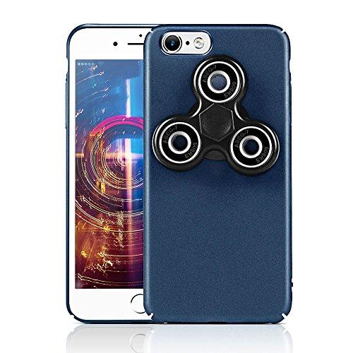 HAOCOOハンドスピナー iPhone 6 ケース Hand spinner iPhone Case 衝撃吸収バンパー 擦り傷防止 ストレス解消 アイフォン 6 用のハンドスピナーコンボケース (iPhone 6  4.7インチ, ブルー)