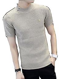 (ネルロッソ) NERLosso Tシャツ 半袖 サマーニット メンズ ハイネック ニット カットソー ニットソー ショートスリーブ 正規品 cmx24213