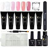 Nail Enhancement Gel Kit Nail Extension Gel Trial Kit Poly Nail Gel Professional Nail Technician All-in-One French Kit