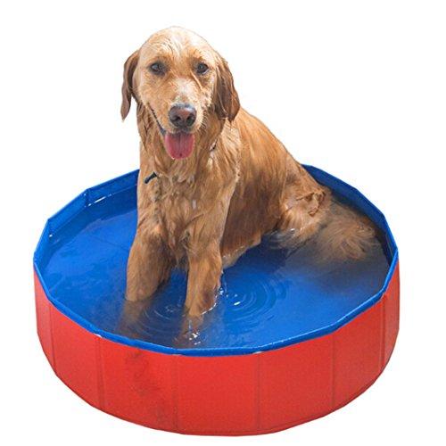 ペット用プール 折り畳み式大型犬ペットプール入浴用タブ 犬 猫バスグッズ バスプール 大/中/小型犬に適用(80x20cm)