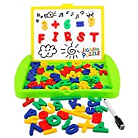 magnetic easel sketchpad with numbers and letters 84 pcs zooawa