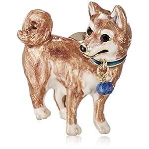 [ヴァンドーム ブティック] VENDOME BOUTIQUE ラピスラズリ 柴犬 ブローチ VBRV5741 LL