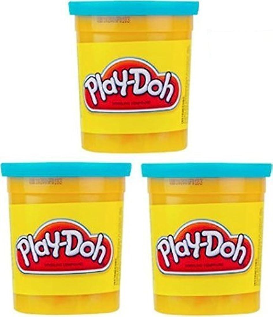 (3 Pack) Bright Blue (23859) Hasbro Play-Doh 5 oz. (15 oz. total) by Play-Doh [並行輸入品]