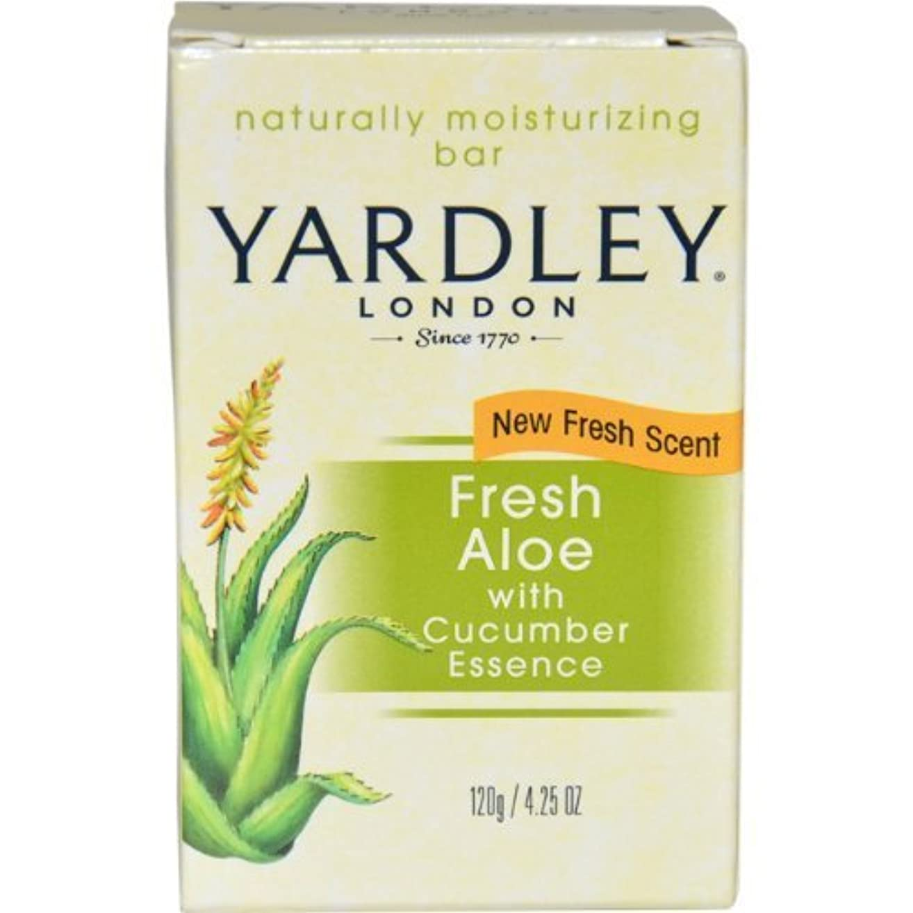 パフ頑張る合法Fresh Aloe with Cucumber Essence Bar Soap Soap Unisex by Yardley, 4.25 Ounce (Packaging May Vary) by Yardley [...