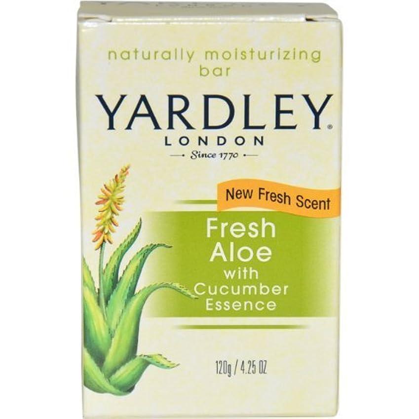 感覚スリーブ手書きFresh Aloe with Cucumber Essence Bar Soap Soap Unisex by Yardley, 4.25 Ounce (Packaging May Vary) by Yardley [並行輸入品]