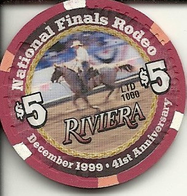 $ 5 Riviera National FinalsロデオObsoleteラスベガスカジノチップ