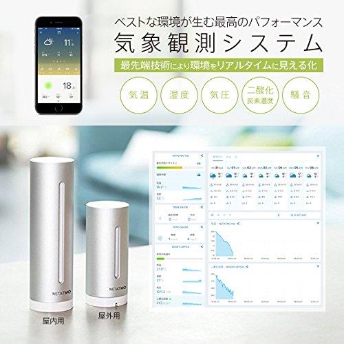 【日本正規代理店品・保証付】Netatmo ネタトモ ウェザーステーション NET-OT-000001