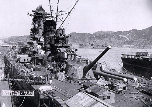 絵画風 壁紙ポスター (はがせるシール式) 戦艦大和 呉海軍工廠 1941年 太平洋戦争 ヤマト ミリタリー キャラクロ SYMT-004A1 (A1版 830mm×585mm) 建築用壁紙+耐候性塗料