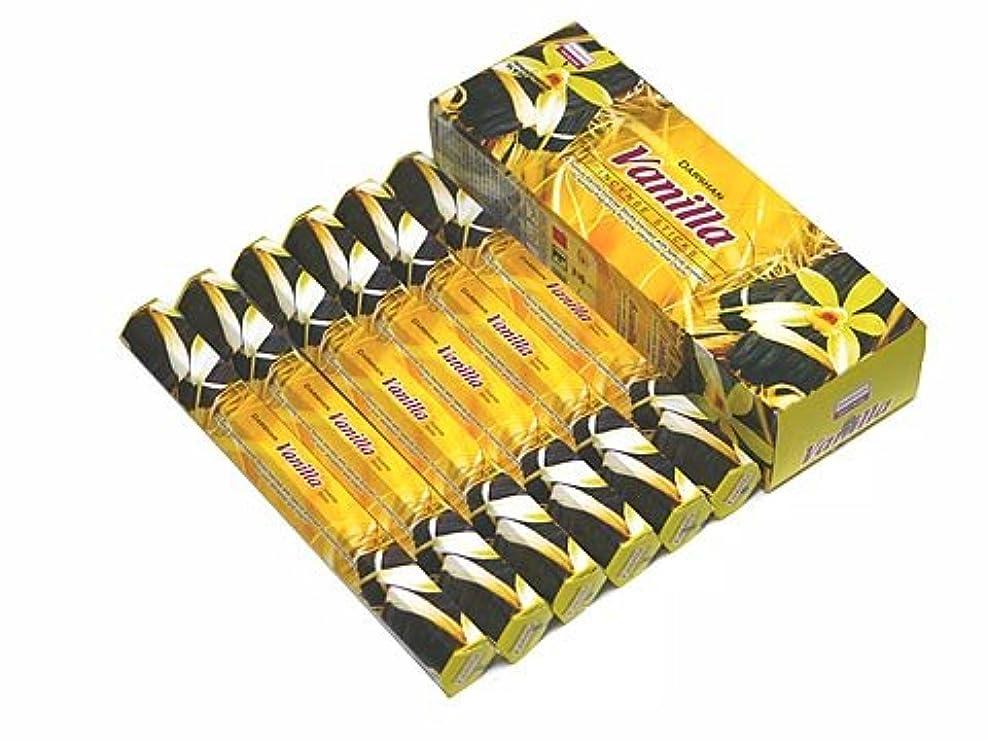 流す計算する再びDARSHAN(ダルシャン) バニラ香 スティック VANILLA 6箱セット