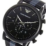 エンポリオ アルマーニ ARMANI クロノ クオーツ メンズ 腕時計 AR1948 ブラック