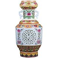 花器 セラミック花瓶二重層中空現代フラワーアレンジメント磁器のボトルの装飾クリエイティブ工芸品 UOMUN