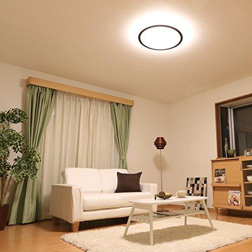 アイリスオーヤマ LED シーリング 調光 調色 タイプ ~12畳 ウォールナット CL12DL-5.0WF-M